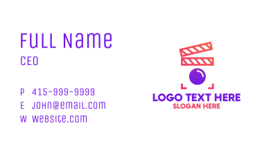 Minimalist Movie App Business Card