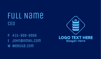 Blue Battery Charge Business Card