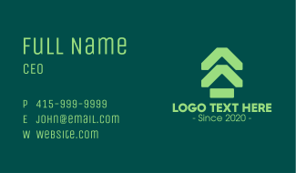 Green Real Estate Subdivision Business Card