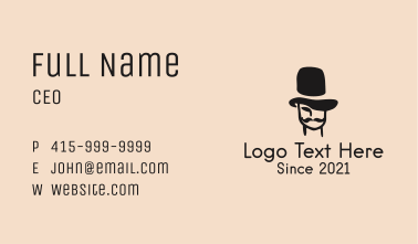 Vintage Mustache Man Business Card