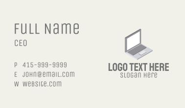 Modern Laptop Isometric Business Card