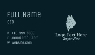 Gray Dog Pet Business Card