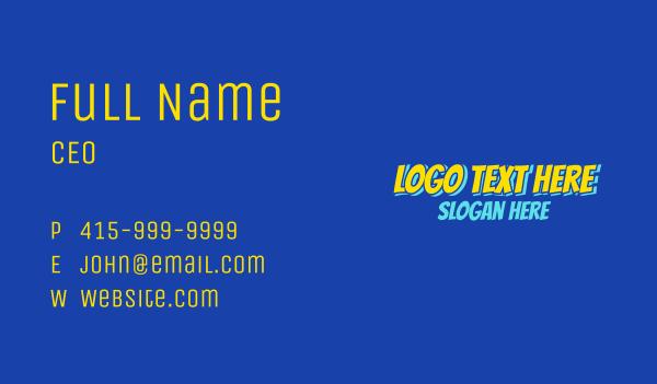 comic book - Comic Book Wordmark Business card horizontal design
