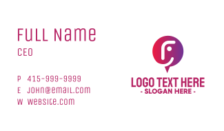 Happy Face Chat  Business Card