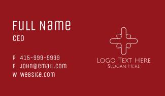 Medical Technology Cross Business Card