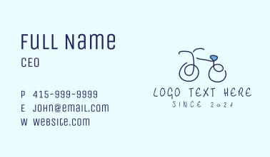 Blue Bicycle Bike  Business Card