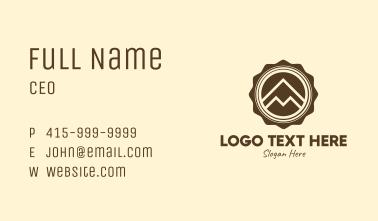Outdoor Mountain Badge Business Card