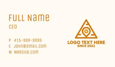 Pyramid Pin Locator Business Card