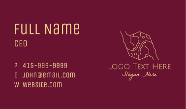 Gold Astrology Woman  Business Card