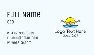 Sun Swimmer Man Business Card