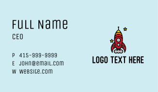Rocket Launch Toy Business Card