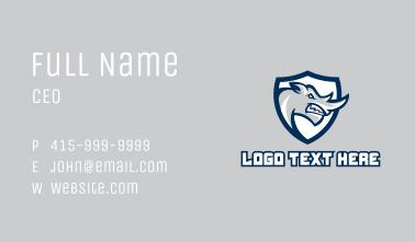 Angry Rhino Emblem  Business Card