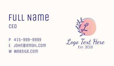 Organic Feminine Wellness Business Card