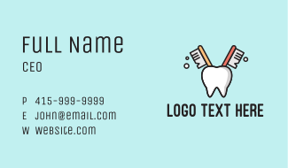 Dental Tooth Toothbrush  Business Card