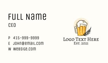 Beer Glass Cartoon  Business Card