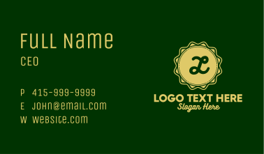 Gold Tailors Lettermark Business Card
