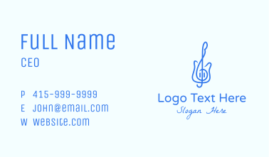 Electric Guitar Note  Business Card