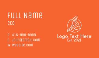 Wing Sneaker Shoe  Business Card
