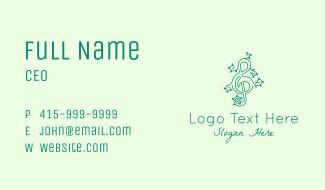 Music Vine Leaves Business Card