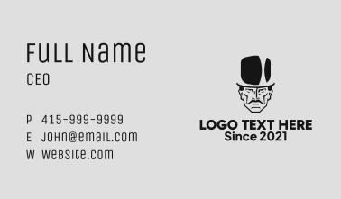 Dapper Top Hat Man Business Card