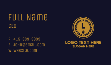 Campfire Star Guild Badge Business Card