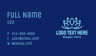 Blue Circuit Lotus Business Card