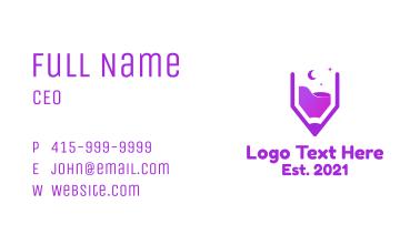Purple Pencil Desert Business Card