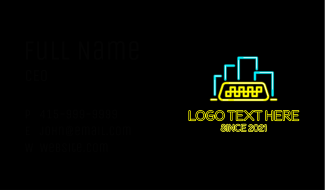 Neon City Taxi  Business Card