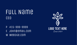 White DNA Genetics Business Card