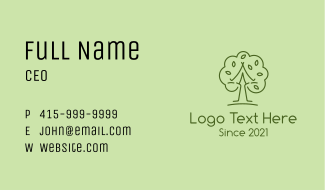 Leafy Wellness Tree Business Card