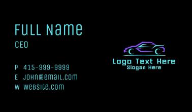 Geometric  Sports Car  Business Card