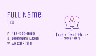 Rocket Human Head Business Card