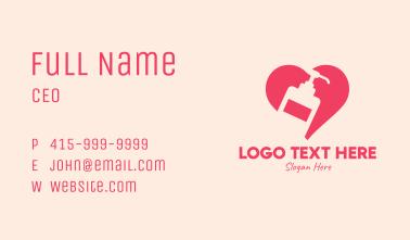 Pink Sanitizer Heart Business Card