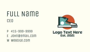 Geometric Funky Shoe Business Card