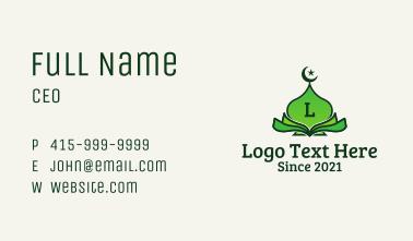 Green Mosque Quran  Business Card