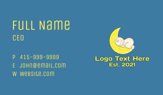 Baby Sleeping Moon Business Card