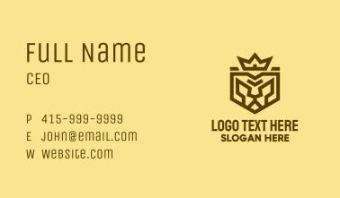 Warrior Lion King Emblem Business Card