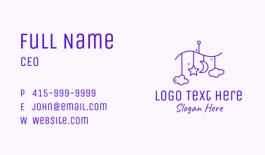 Purple Baby Decoration Business Card