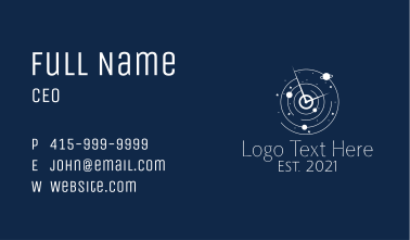 Astrological Space Time Business Card