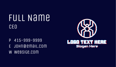 Spider Letter X Gaming Business Card