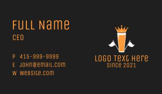 Royal Crown Beer Business Card