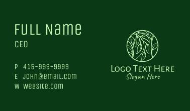 Leafy Herbs Circle  Business Card