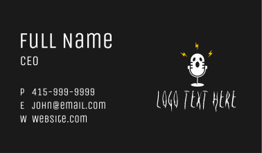 Horror Ghost Podcast Business Card