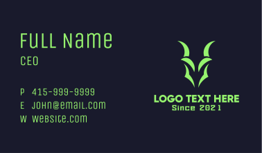 Green Gaming Goat Business Card