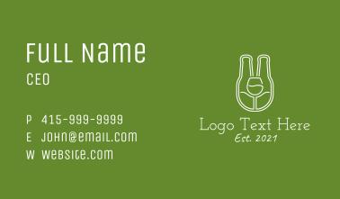Minimalist Beer Bottle  Business Card