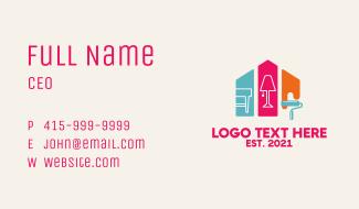 Multicolor Home Improvement Business Card