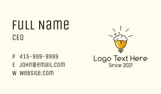 Light Bulb Beer Business Card