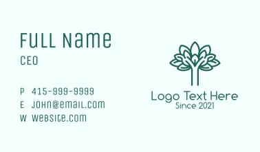 Green Natural Tree Business Card