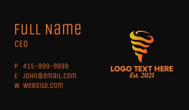 Gradient Tornado Flame  Business Card