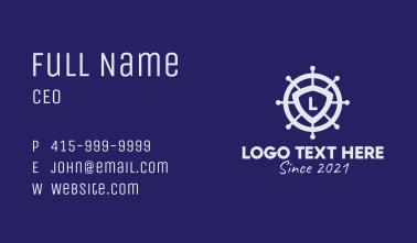 Ship Wheel Letter  Business Card